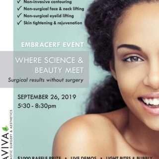 aviva plastic surgery & aesthetics embrace rf event